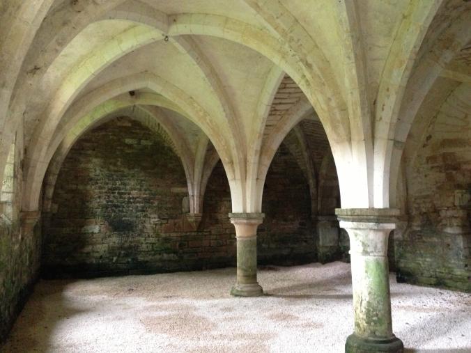 A sneak peak: 12th Century (1131AD) Cellar at L'Abbaye de la Bussiere